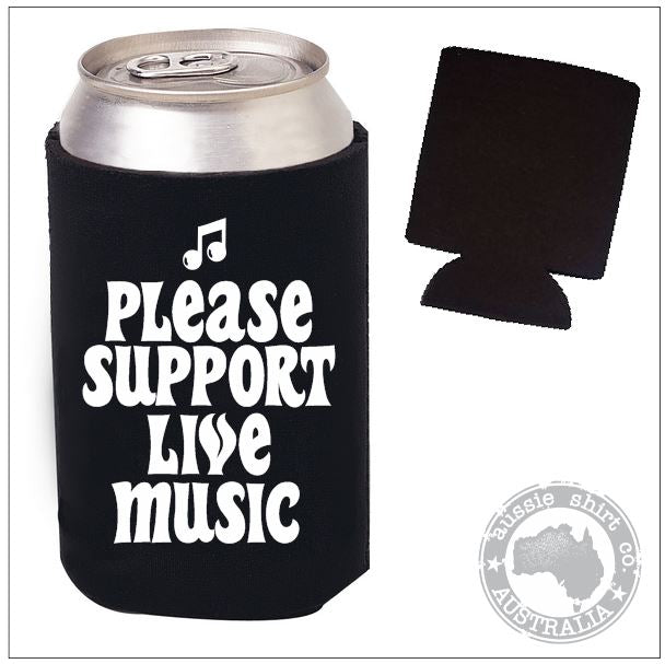 Support Live Music Pocket Cooler - aussie-shirt-co