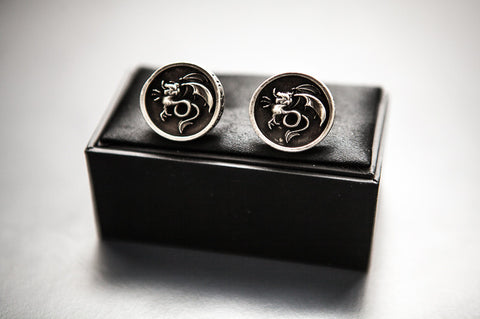 Wyvern Cufflinks in pewter
