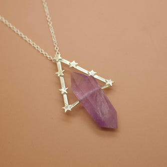 Ready To Ship ✦ Ophelia Necklace - Amethyst and Silver -  The Serpents Club