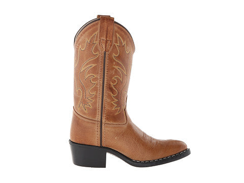 Old West Childrens J Toe Western Boots - Tan Canyon