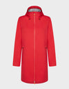 Womens BARK Hooded Coat in Tomato Red