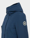 Womens COPY Winter Hooded Parka in Navy Blue