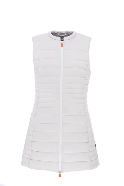 Womens ANGY Stretch Sleeveless Coat in Snow White