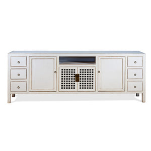 Antique White 6 Drawer Media Cabinet