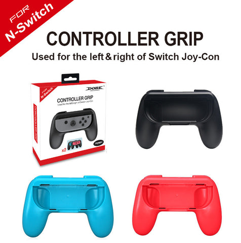 2 x Controller Remote dock Wheel Accessory Joy-Con Black / Red / Blue For Nintendo Switch Mario Car Racing Games (Joy-Con Case, Red & Blue)