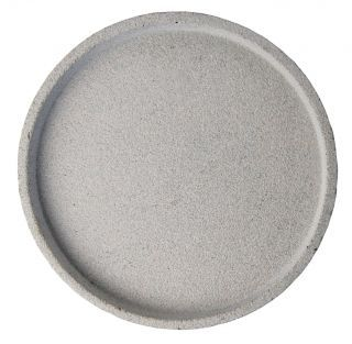 Round Concrete Tray - Large Grey