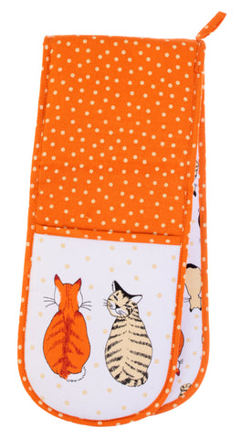 Cats in waiting Double Oven Gloves