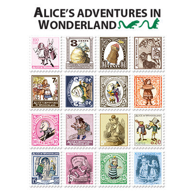 Stamp Sticker Set V.4 - Alice In Wonderland  - A Type 02 - AL4603