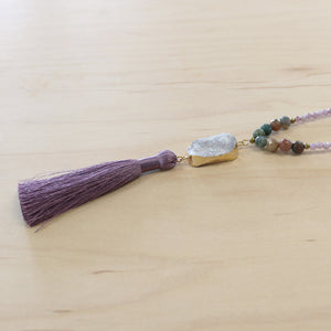The Penelope - Semi-Precious Mala Necklace