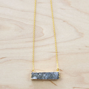 The Anna - Druzy Quartz Necklace