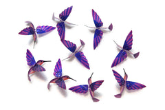 Hummingbird Capiz Garlands - Purple