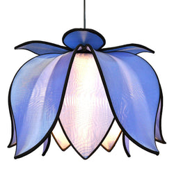 Hanging Blooming Lotus Lamp, Sky / Hardwire Kit