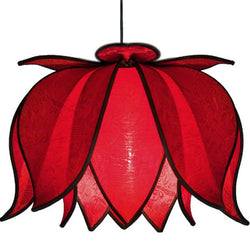 Hanging Blooming Lotus Lamp, Solar / Hardwire Kit