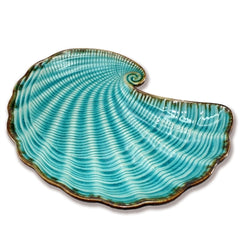 Blue Ceramic Shell Plate