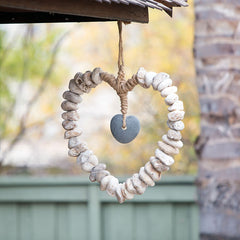 Heart Wreath with Stone Heart