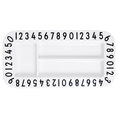 Arne Jacobsen Melamine Rectangular Snack Plate by Design Letters - Junior Edition