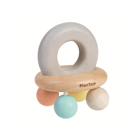 Pastel Bell Rattle by PlanToys - Junior Edition