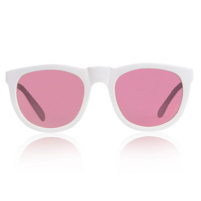 White Bobby Sunglasses by Sons + Daughters Eyewear - Junior Edition