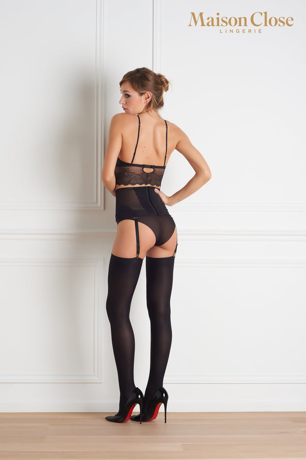 Maison Close Opaque Cut & Curled Stockings 70 Denier