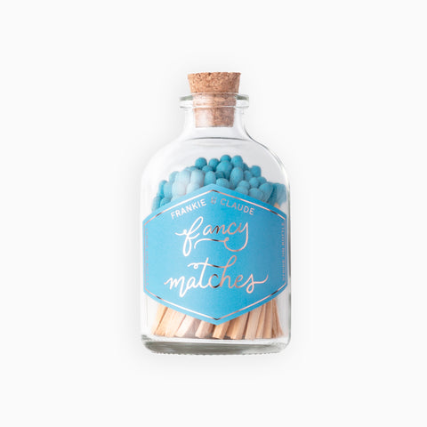 Small French Blue Match Jar