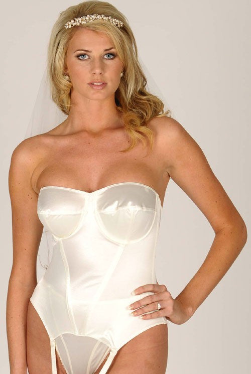 Silhouette Basque Large Cup Wedding Style Pearl