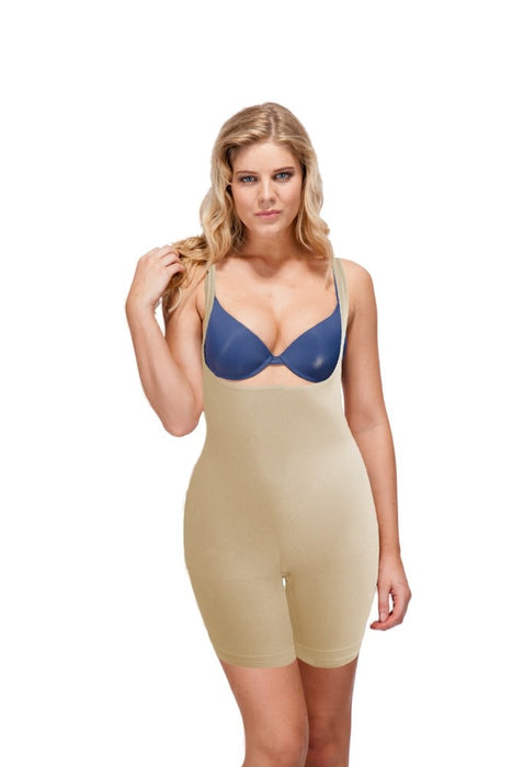 Bodyfit Under Bust Seamfree Body And Thigh Shaper