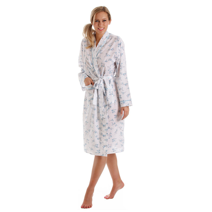 Lady Olga Wrap Lightweight  Cotton  Polyester Dressing Gown