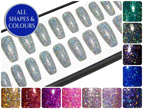 """The Ultra Holographic Glitters"" - Glitter Coffin Nails"