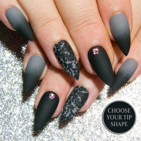 """The Neutrals"" - Coffin Fake Nails - Matte or Gloss"