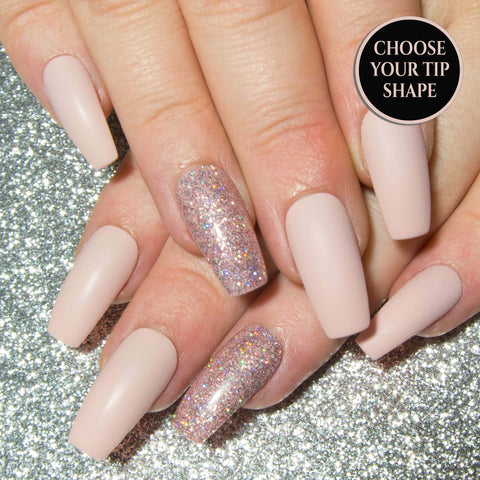 """The Neutrals"" - Stiletto Press On Nails - Matte or Gloss"
