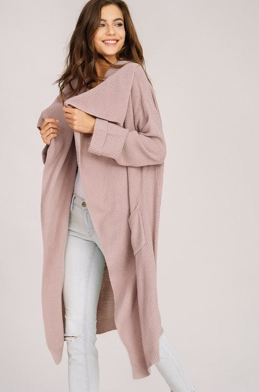 Ember Knit Cardigan | Mauve - sweater - Affordable Boutique Fashion
