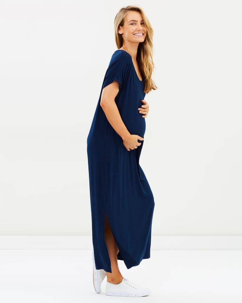 Momiform Perfect T-Shirt Maxi | Navy - DRESSES - Affordable Boutique Fashion