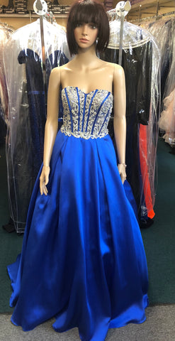 JVN by Jovani 59137 size 00, 2, 10, 14 Royal blue Prom Dress Pageant Gown