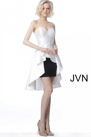 JVN4362 sweetheart neckline short high low homecoming dress