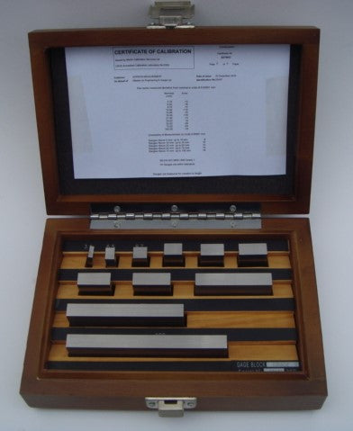 Micrometer Check Set Tungsten Carbide Metric / Imperial 11 Piece with UKAS