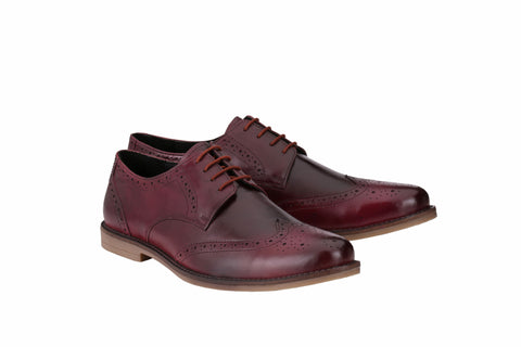 Men's Formal Burgundy Wingtip Brogues | Jacksin Shoes