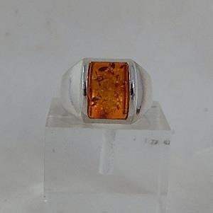Front View of Amber Ring