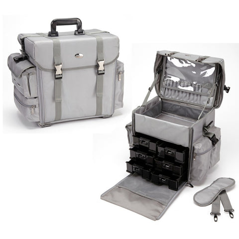 Pro Soft Sided Carry On Cosmetic Case w/ Trays