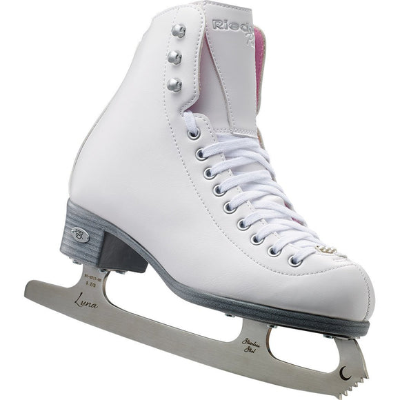 Riedell 114 Pearl Ladies Figure Skates with LUNA Blade - PSH Sports