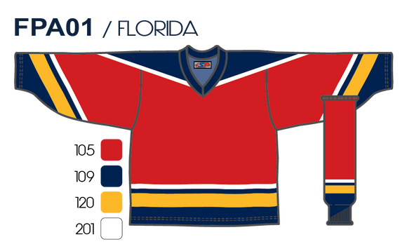 SP Apparel League Series Florida Panthers Red Sublimated Hockey Jersey - PSH Sports