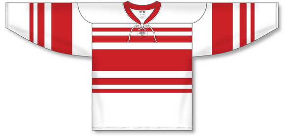 Athletic Knit (AK) H550B Detroit Red Wings Retro White Hockey Jersey - PSH Sports