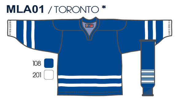 SP Apparel League Series Toronto Maple Leafs Royal Blue Sublimated Hockey Jersey - PSH Sports