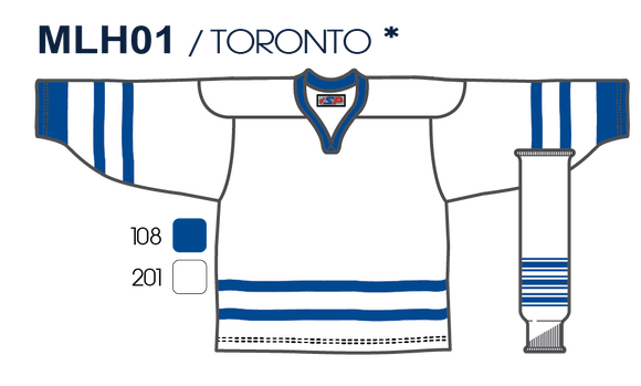 SP Apparel League Series Toronto Maple Leafs White Sublimated Hockey Jersey - PSH Sports