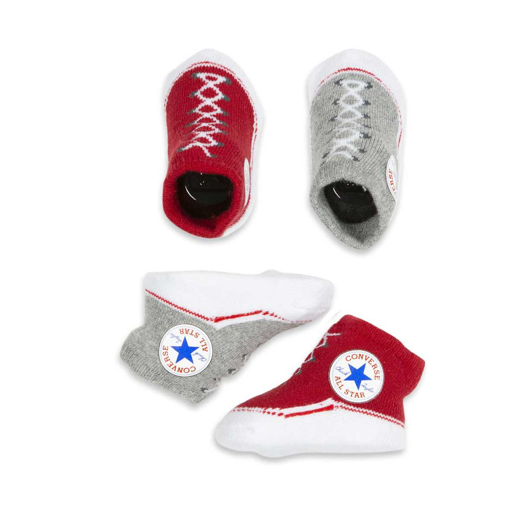 Baby Converse Chuck Taylor Newborn Knit Booties 2 Pack Red Afterpay