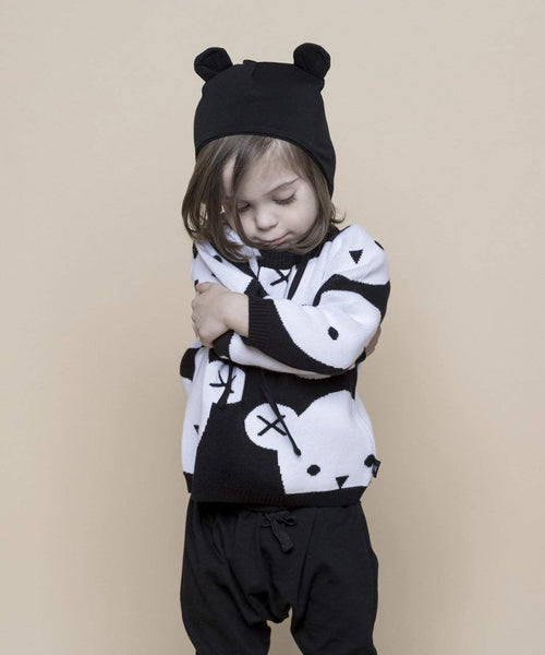 Huxbaby Black Hux Bear Knit Jumper Afterpay