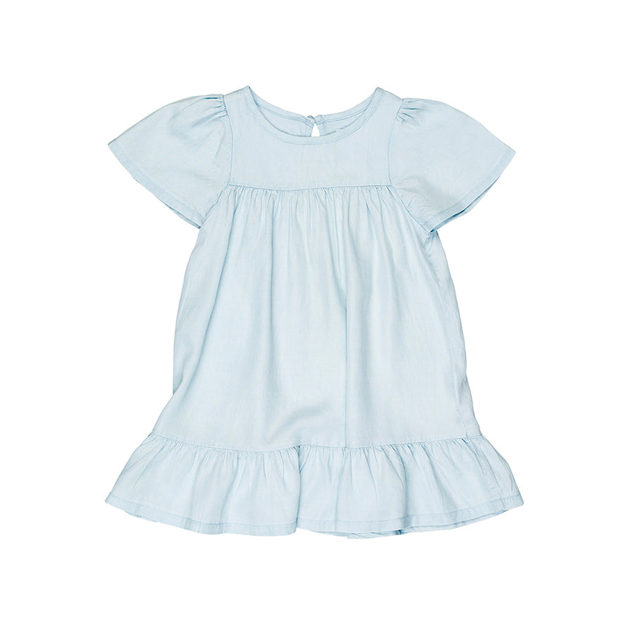 Huxbaby Organic Leah Dress Chambray Cool Kids Clothes Online Australia