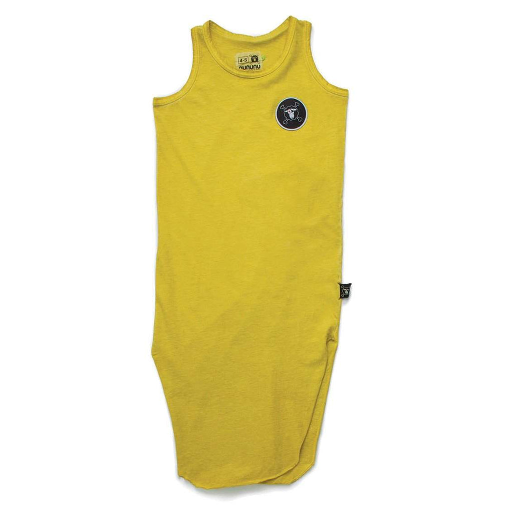 NUNUNU Dusty Yellow Maxi Tank Dress Afterpay