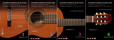 Flamenco Guitar in 48 lesson by Jose Manuel Montoya   (4 DVD´s) | Guitarra Flamenca en 48 clases (4 DVDs´s) Jose Manuel Montoya