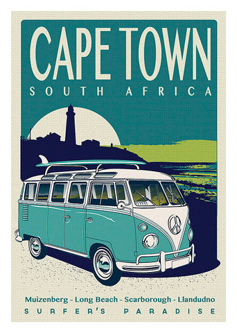 Cape Town, Sk Surf 17. Poster in a 3mm Supawood board.