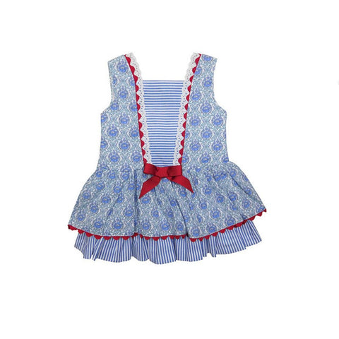 Tinsley Dress - Doodles and Daisy Chains - Spanish Baby Clothes - Classic Baby Boutique